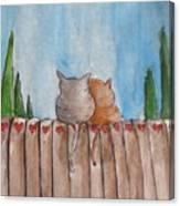Snuggle Close My Sweet Valentine Canvas Print