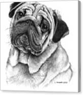 Snuggly Puggly Canvas Print