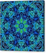 So Blue - 04v2 - Mandala Canvas Print