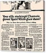 Your Silk Stockings Vintage Soap Ad Canvas Print