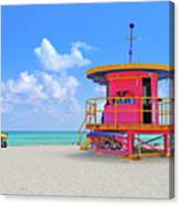 Sobe Lifeguard Canvas Print