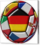 Soccer Ball With Flag Of German In The Center Canvas Print