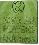 Soccer Players Kick Pass Poster Canvas Print