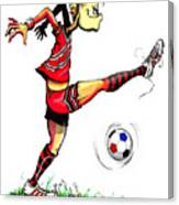 Soccer Striker Canvas Print