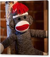 Sock Monkey Canvas Print