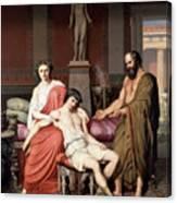 Socrates Chiding Alcibiades Canvas Print