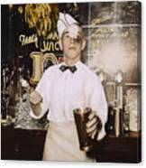 Soda Jerk, 1939 Canvas Print