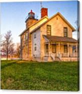 Sodus Point Lighthouse And Museum Canvas Print