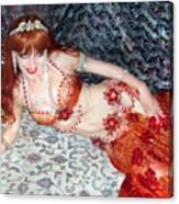 Sofia Metal Queen. Ameynra Bellydance Star Model Canvas Print