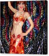 Sofia Metal Queen - Belly Dancer Model At Ameynra Canvas Print