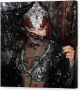 Sofia Metal Queen - Black Metal Bellydancer Model Canvas Print