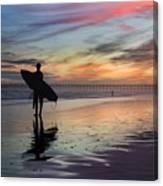 Surfing The Shadows Of Light Canvas Print