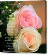 Soft Pastel Roses Canvas Print