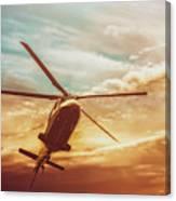 Soft Sunset Landing  Canvas Print