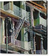 Soho Fire Escapes Canvas Print
