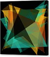 Soil Polygon Pattern Canvas Print