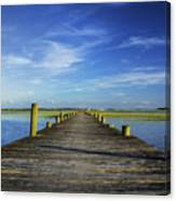 Sol Legare Wooden Dock Vanishing Point Canvas Print