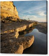 Solana Beach Low Tide Canvas Print