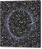 Solar Eclipse In Totality 5 Aboriginal Dotted Art Style Canvas Print