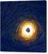 Solar Eclipse In Totality Painting Canvas Print