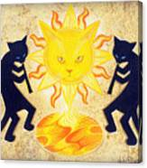 Solar Feline Entity Canvas Print