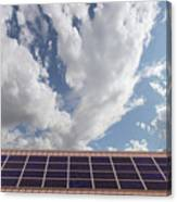 Solar Panels On Roof Top Canvas Print