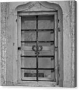 Soldatenbau Window B W Canvas Print
