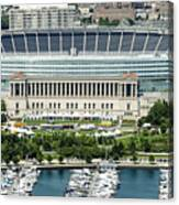 Soldier Field Stadium In Chicago Aerial Photo Canvas Print