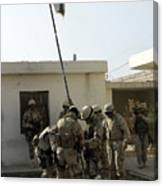 Soldiers From The Iraqi Special Forces Canvas Print