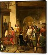 Soldiers In A Tavern During The Thirty Years Canvas Print