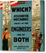 Soldiers Or Mechanic Canvas Print