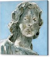 Solitude. A Cemetery Statue Canvas Print