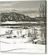 Solitude In Boulder County Canvas Print