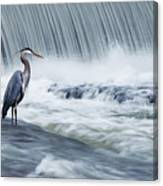 Solitude In Stormy Waters Canvas Print