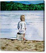 Solitude Upon The Lake Canvas Print