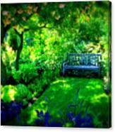 Solo Bench Canvas Print