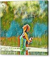 Solo Splash Canvas Print