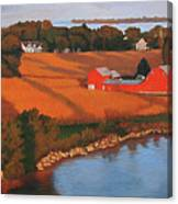 Solomons Red Barn At Sunset Canvas Print