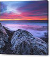 Solstice Sunrise At Jennes Beach Canvas Print
