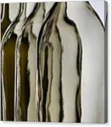 Somber Bottles Canvas Print