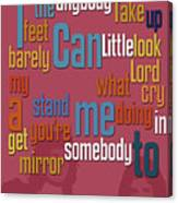 Somebody To Love. Queen. Typography Art. Gift For Music Fans Canvas Print