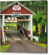 Somerset Burholder Covered Bridge Canvas Print