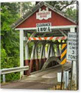 Somerset County Burkholder Covered Bridge Canvas Print