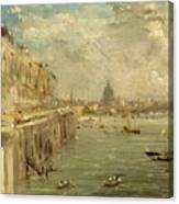 Somerset House Terrace From Waterloo Bridge Canvas Print
