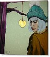 Sometimes A Girl Just Wants A Little Bite Of The Golden Apple Canvas Print