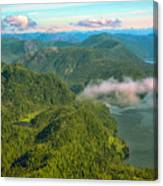 Over Alaska - June  Canvas Print