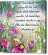 Song Of The Flowers With Bible Verse Canvas Print