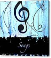 Songs - Blue Canvas Print
