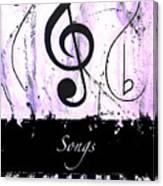 Songs - Purple Canvas Print