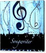 Songwriter - Blue Canvas Print